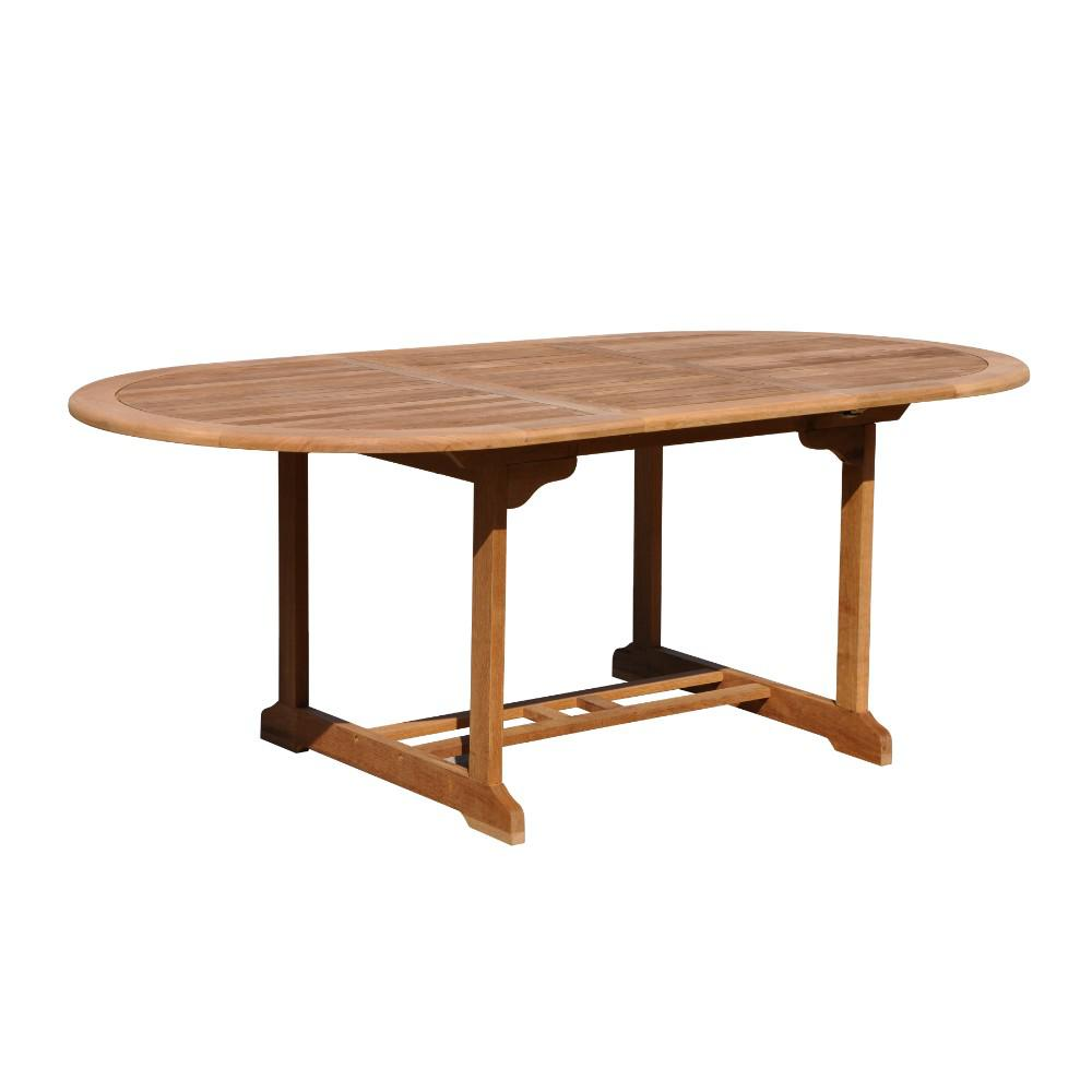 Courtyard Casual Burma Collection Teak Outdoor Dining Table With Extension