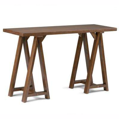 Sawhorse Medium Saddle Brown Console Table