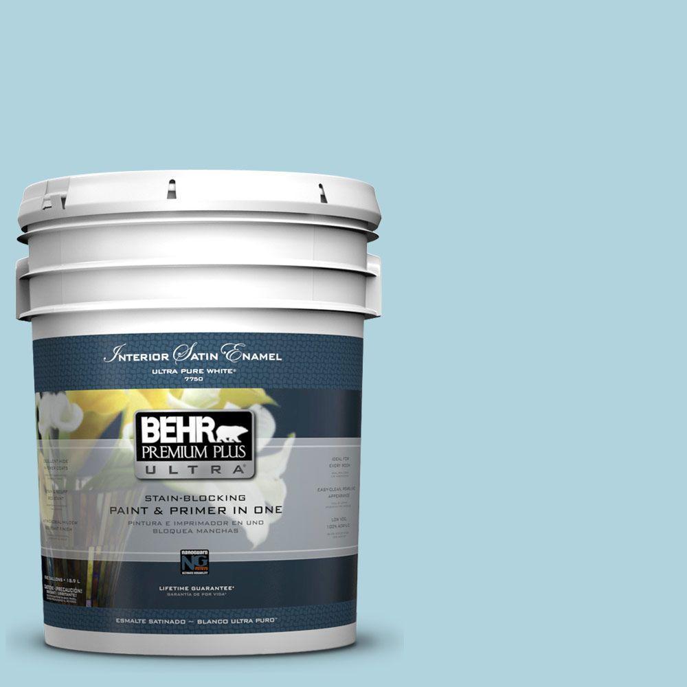 5-gal. #520E-2 Tropical Breeze Satin Enamel Interior Paint