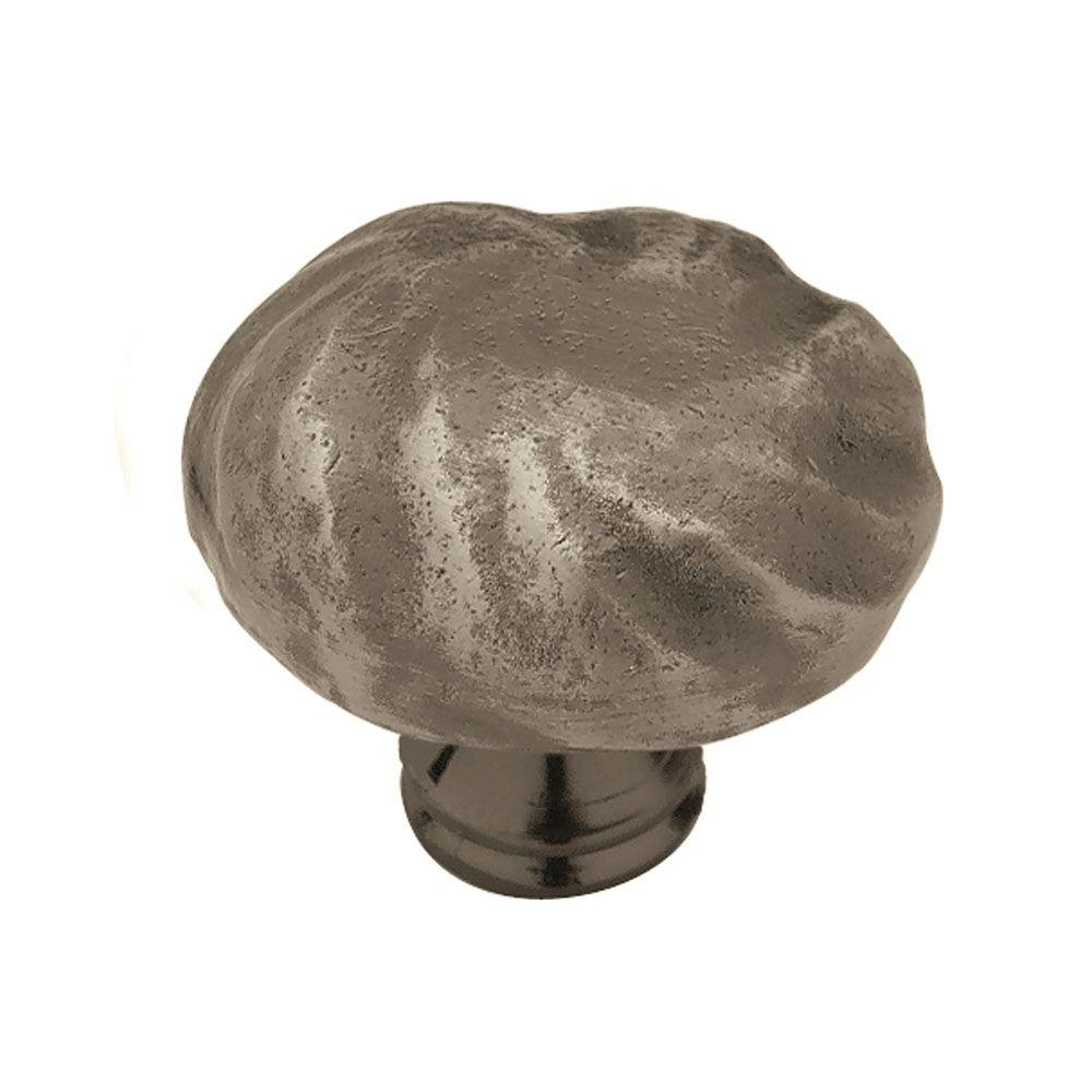 (38mm) Antique Pewter Round Cabinet - Liberty Rustique 1-1/2 In. (38mm) Antique Pewter Round Cabinet Knob