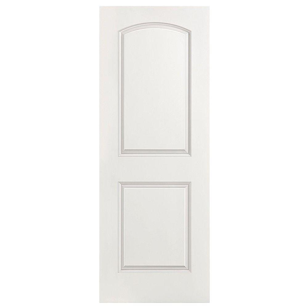 Masonite 32 In X 80 In Roman 2 Panel Round Top Left Handed Hollow Core Smooth Primed Composite