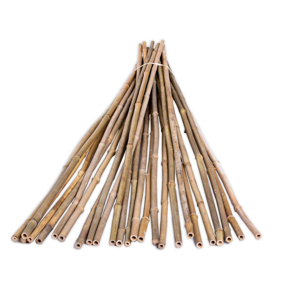 3Ft Natural Wooden Bamboo Canes Plant Support Garden Thick Canes Sticks New