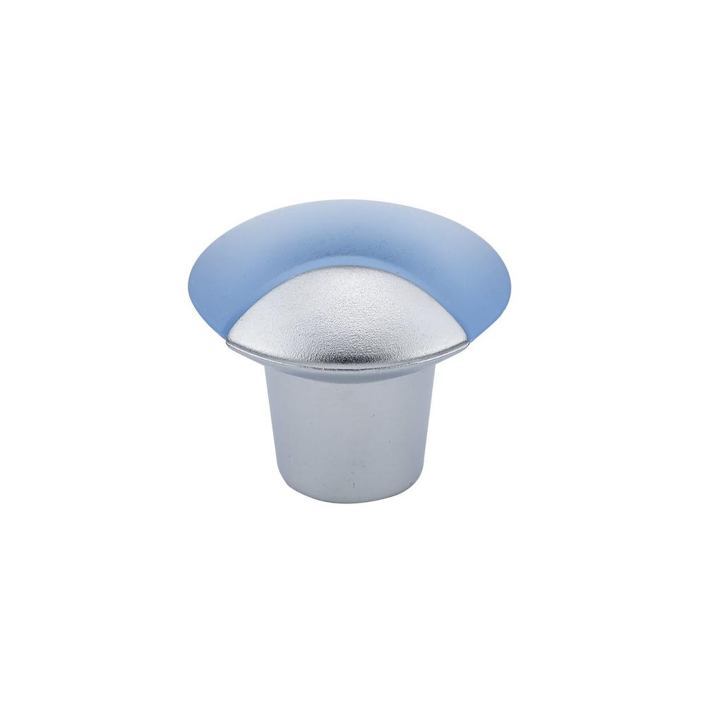 Richelieu Hardware Contemporary 1-5/32 in. (29 mm) Frosted Blue Round Cabinet Knob
