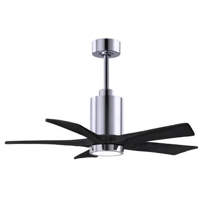 Patricia-5 42 in. Integrated LED Polished Chrome Ceiling Fan with LED Light Kit
