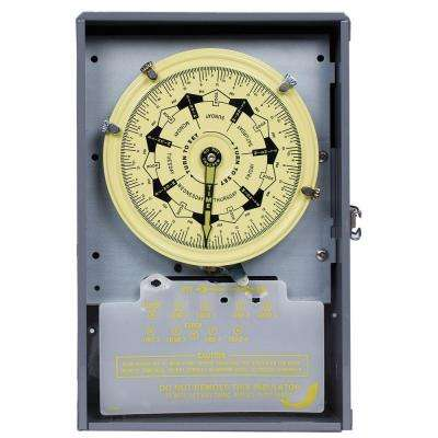 T7000B Series 40 Amp 7-Day Mechanical Time Switch with Indoor Enclosure - Gray