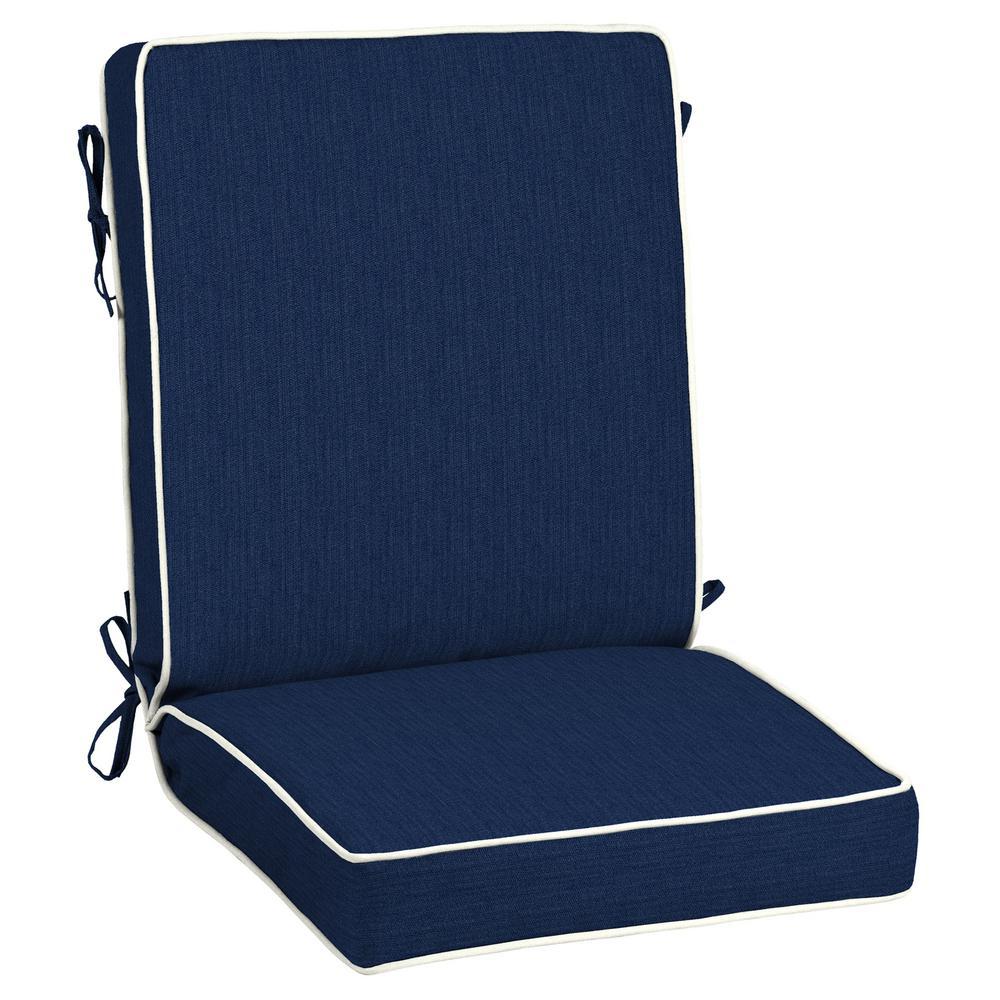 21 x 44 Sunbrella Spectrum Indigo Outdoor Dining Chair Cushion