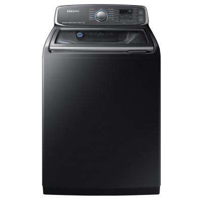 5.2 cu. ft. High-Efficiency Top Load Washer with Steam and Activewash in Black Stainless Steel, ENERGY STAR