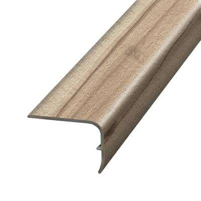 Antique Lumber Beige and Grey 1.32 in. Thick x 1.88 in. Wide x 78.7 in. Length Vinyl Stairnose Molding