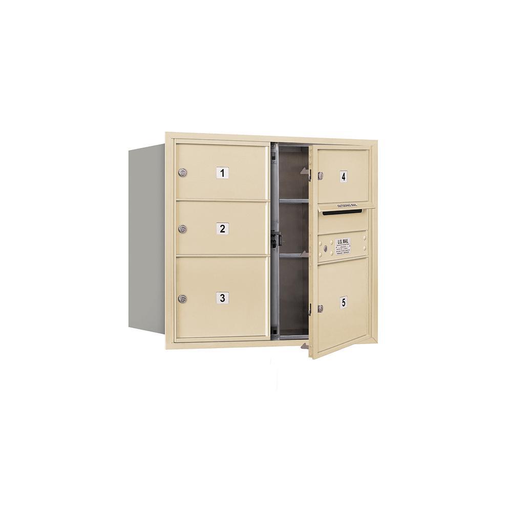 3700 Horizontal Series 5-Compartment Recessed Mount Mailbox