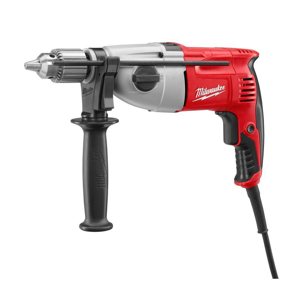 Milwaukee 1/2 In. Pistol Grip 2-Speed Heavy-Duty Keyed Chuck Hammer-Drill