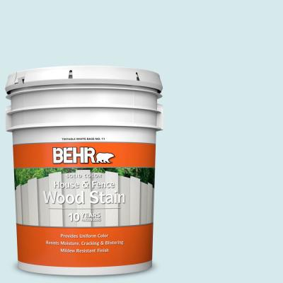 Behr 5 Gal Hdc Md 23 Ice Mist Solid Color House And Fence Exterior Wood Stain 01105 The Home Depot