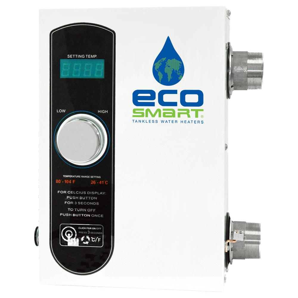 EcoSmart 11 kW 1.89 GPM Smart Spa Electric Spa Tankless Water Heater EcoSmart Electric Tankless Spa and Pool Heaters are designed to provide reliable, efficient, convenient, on demand heating. EcoSmart Spa Heaters operate by utilizing the latest flow sensor technology instead of the traditional pressure switch activation to reduce the risk of burned elements, which increases its reliability and longevity. The Smart SPA series come with digital thermostat control so you can set the temperature exactly where you want it. EcoSmart Spa Heaters are compact and easy to install for a new or existing spa.