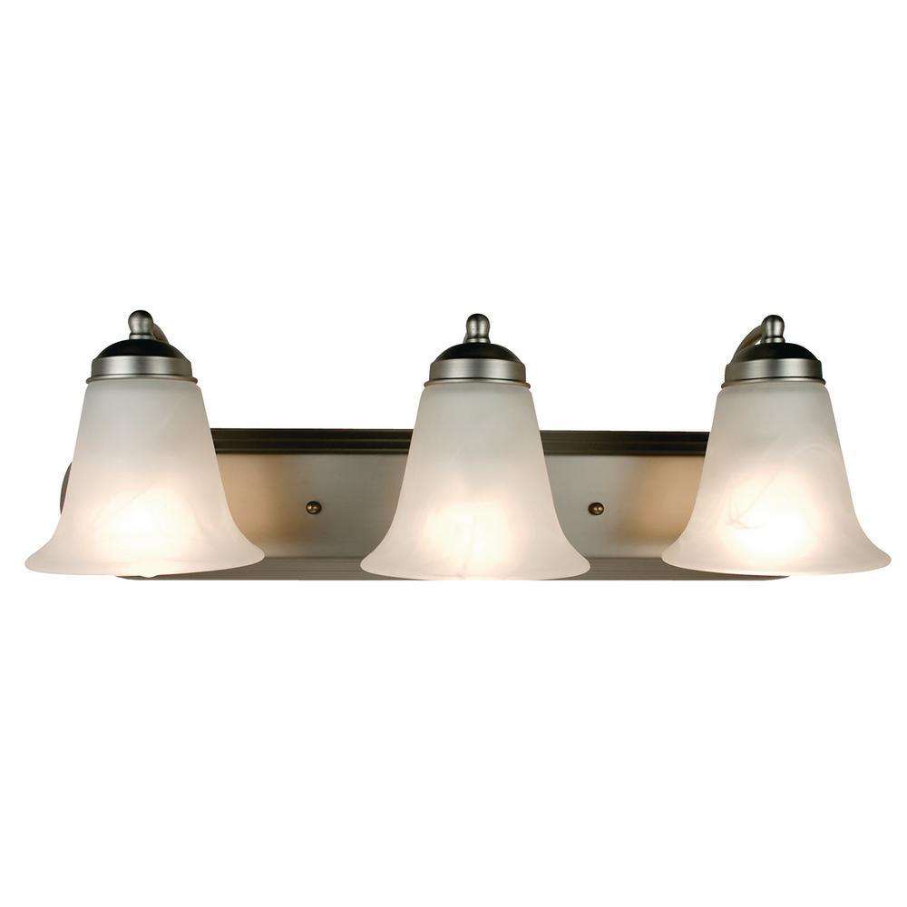 Morgan 3-Light Brushed Nickel Bath Light