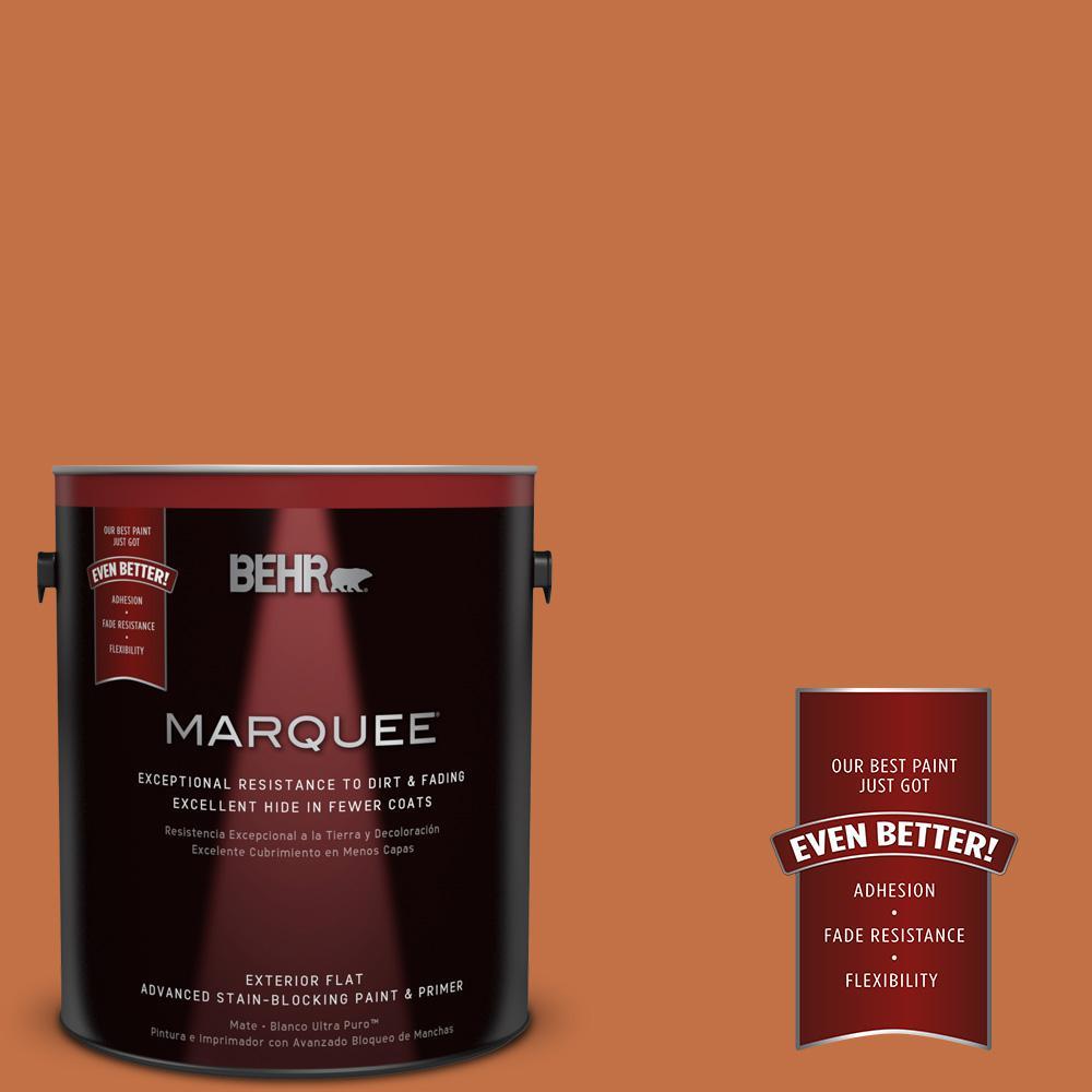 BEHR MARQUEE 1-gal. #M220-7 Jack O Lantern Flat Exterior Paint
