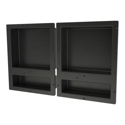 Redi Niche 32 in. x 20 in. Quad Shower Niche Set in Black