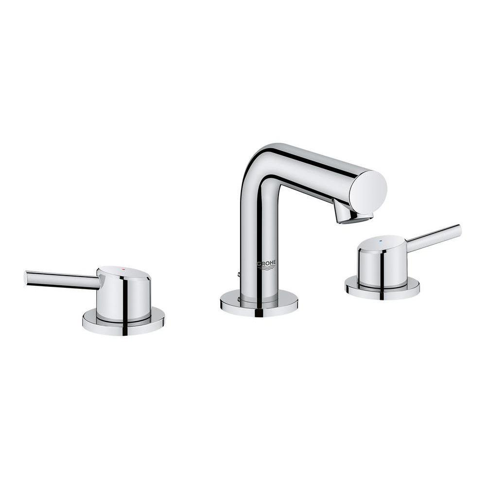 Superbe GROHE Concetto 8 In. Widespread 2 Handle Mid Arc Bathroom Faucet In  StarLight