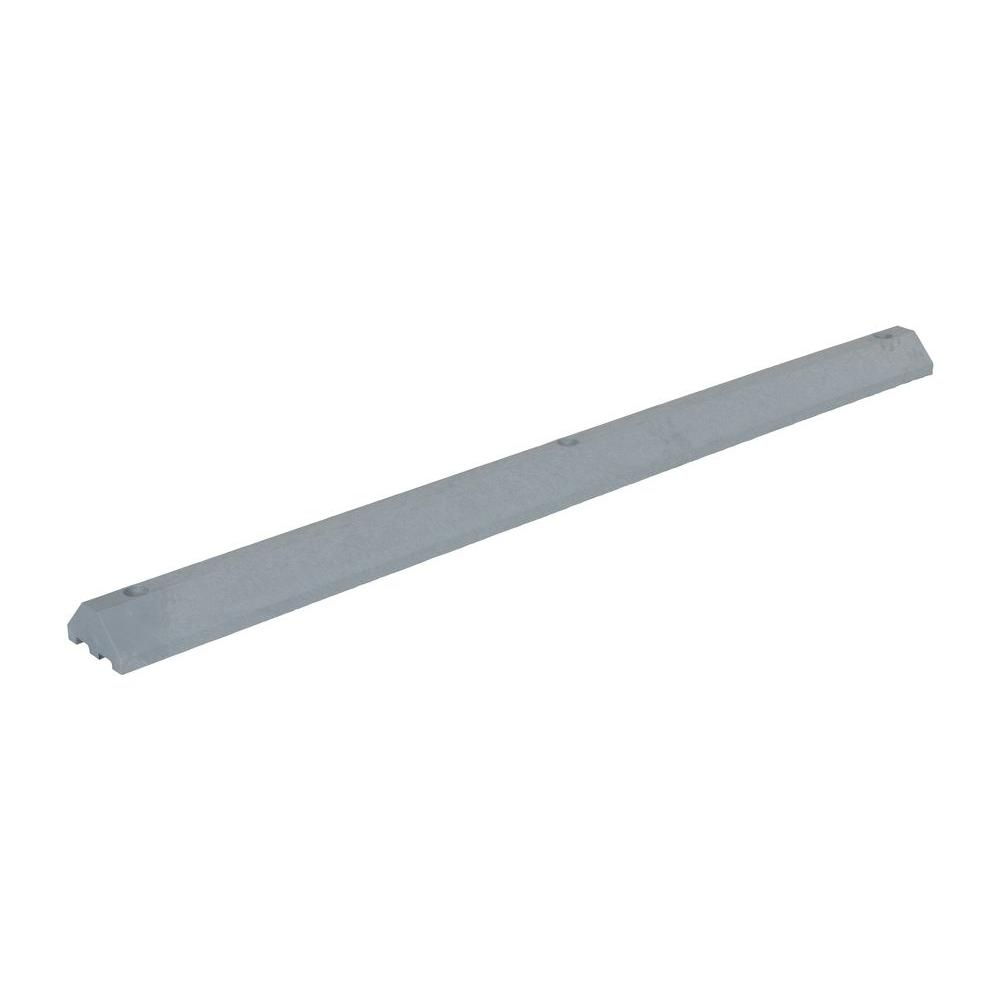 72 in. Recycled Gray Plastic Car Stop