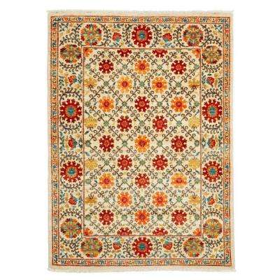 Suzani Orange 4 ft. x 6 ft. Indoor Area Rug