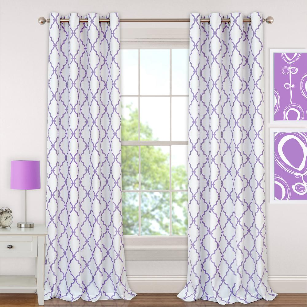 Elrene Candice Kids Blackout Window Curtain-22410PUR