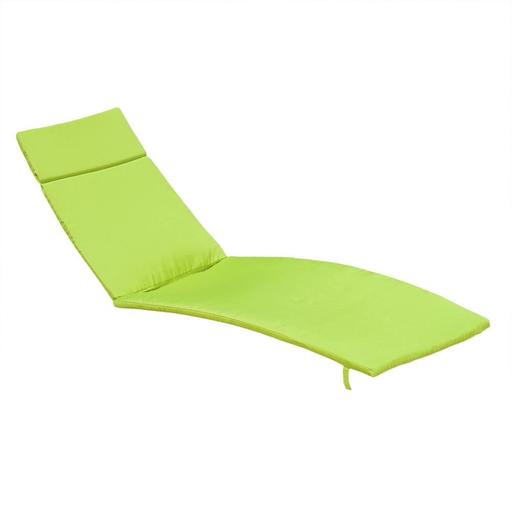 Noble House Salem Green Deep Seating Outdoor Chaise Lounge Cushion