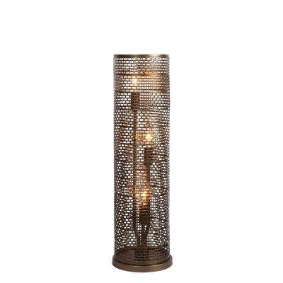 Lit-Mesh Test 22.25 in. 3-Light New Bronze Table Lamp
