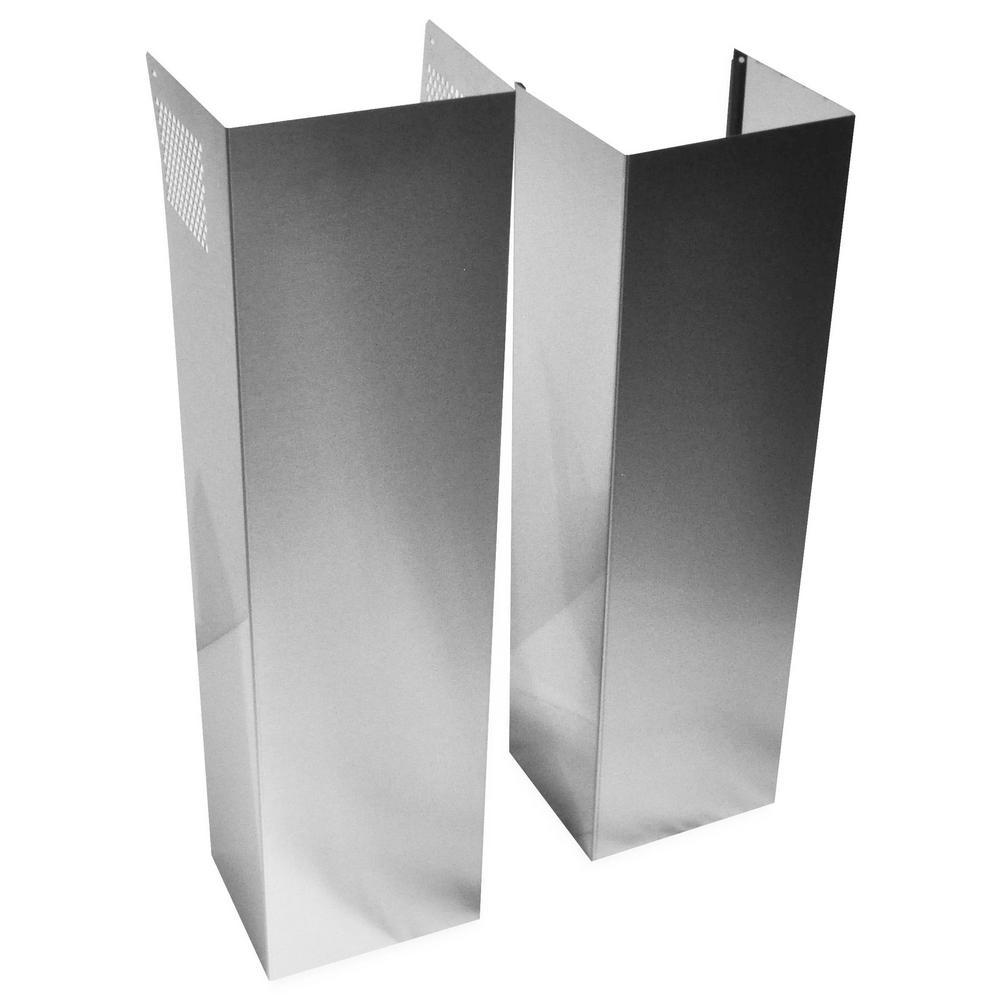 Whirlpool 12 Ft Stainless Steel Wall Hood Chimney