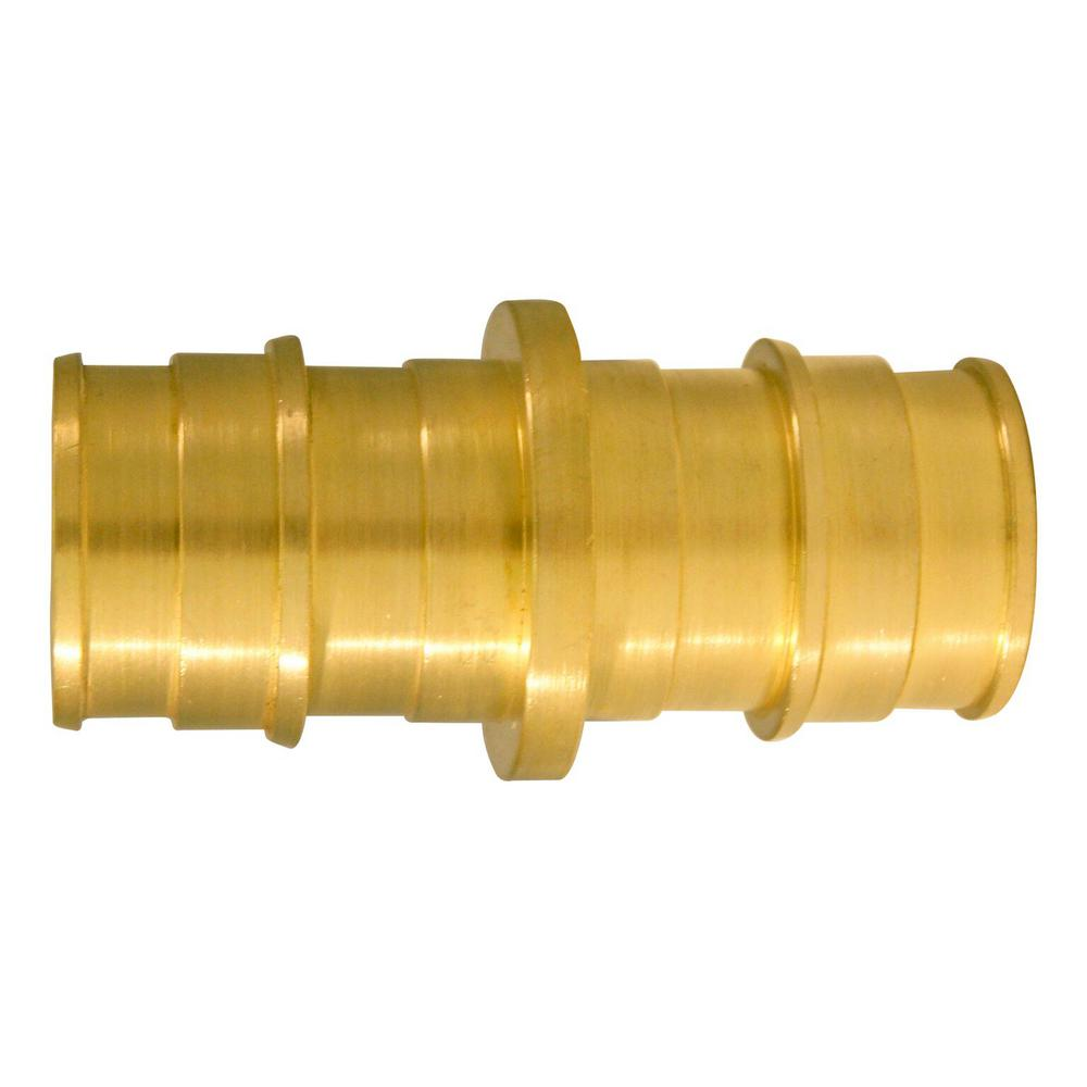 3/4 in. Brass PEX-A Expansion Barb Coupling (10-Pack)
