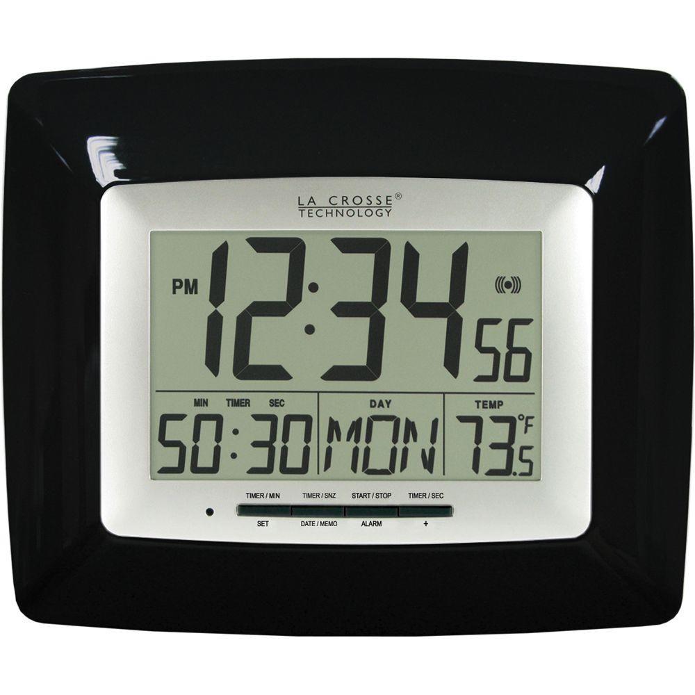 La Crosse Technology 9-1/4 in. x 7-5/8 in. Black Countdown Digital Timer Clock-DISCONTINUED