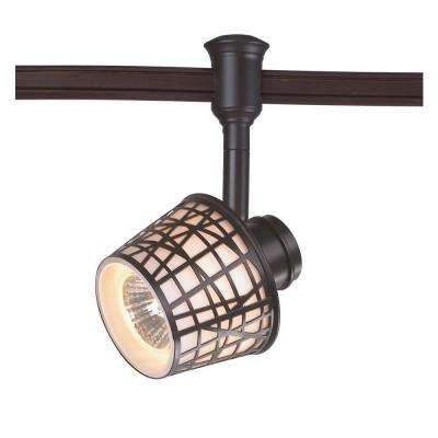 1-Light Bronze Convertible Basket Flexible Track Lighting Head