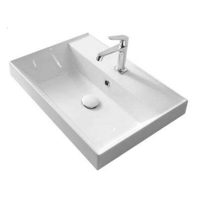 Teorema Drop-in Bathroom Sink in White