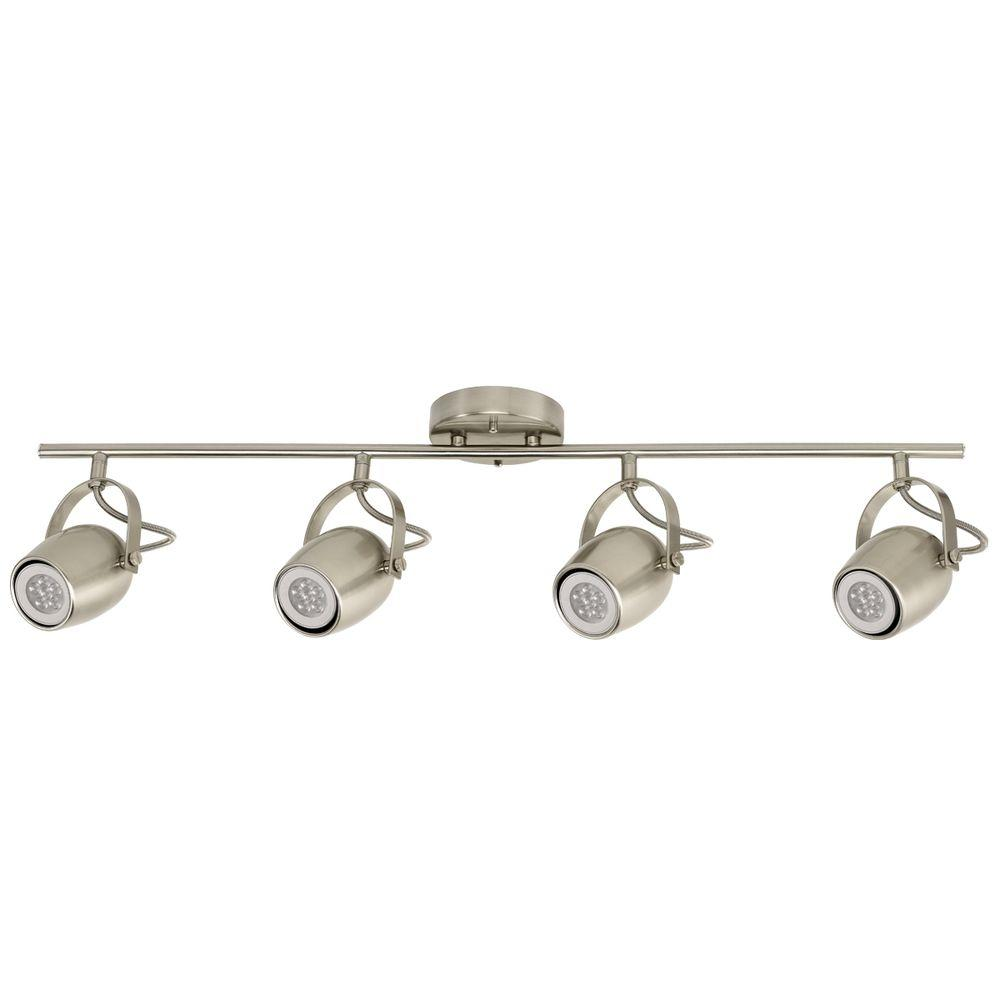 track lighting styles transitional. samara collection 4-light brushed nickel track lighting with dimmable 50-watt led gu10 styles transitional