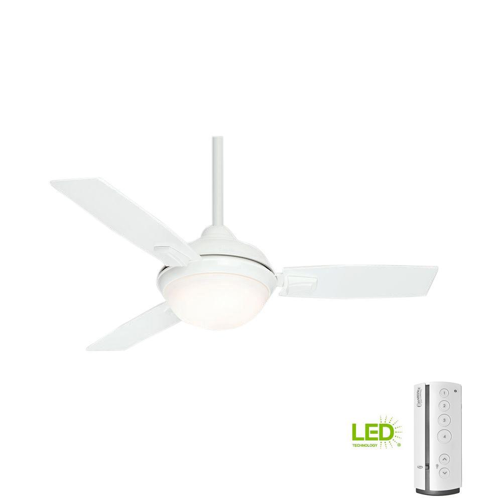 4ba43ccc9ae Casablanca Verse 44 in. LED Indoor Outdoor Fresh White Ceiling Fan with  Remote