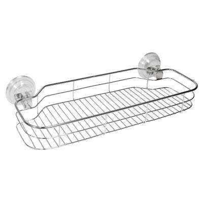 Reo PowerLock Suction Shelf in Clear/Stainless Steel
