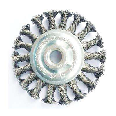 6 in. x 5/8 in.-11 Threaded Arbor Twist Stainless Steel Wheel Brush