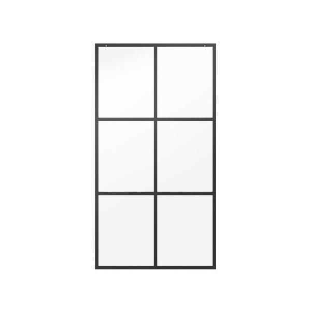 29-1/32 in. x 55-1/2 in. x 1/4 in. Frameless Sliding Bathtub Door Glass Panels in Ingot (1-Pair for 50-60 in. Doors)