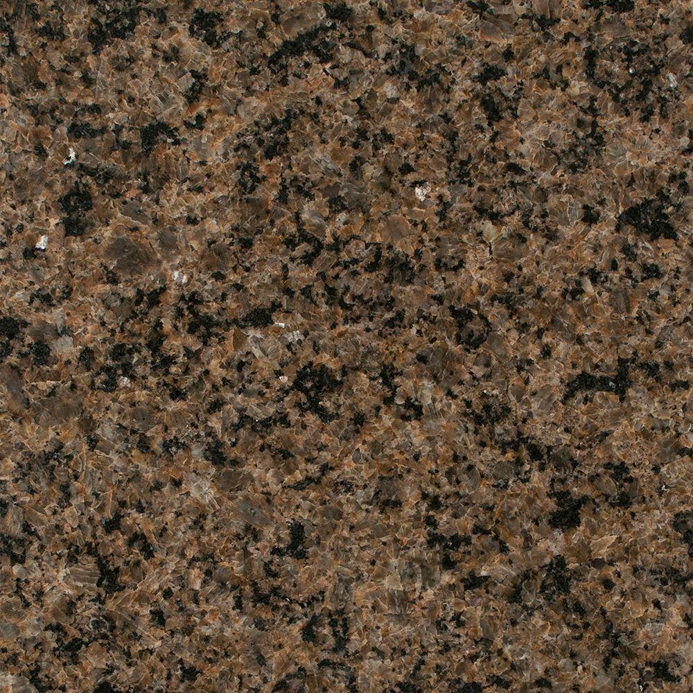 Stonemark Granite 3 In. Granite Countertop Sample In Tropic Brown DT G294    The Home Depot
