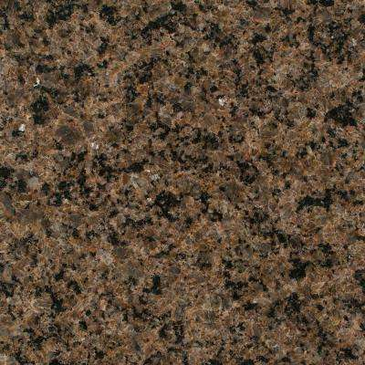 3 in. x 3 in. Granite Countertop Sample in Tropic Brown