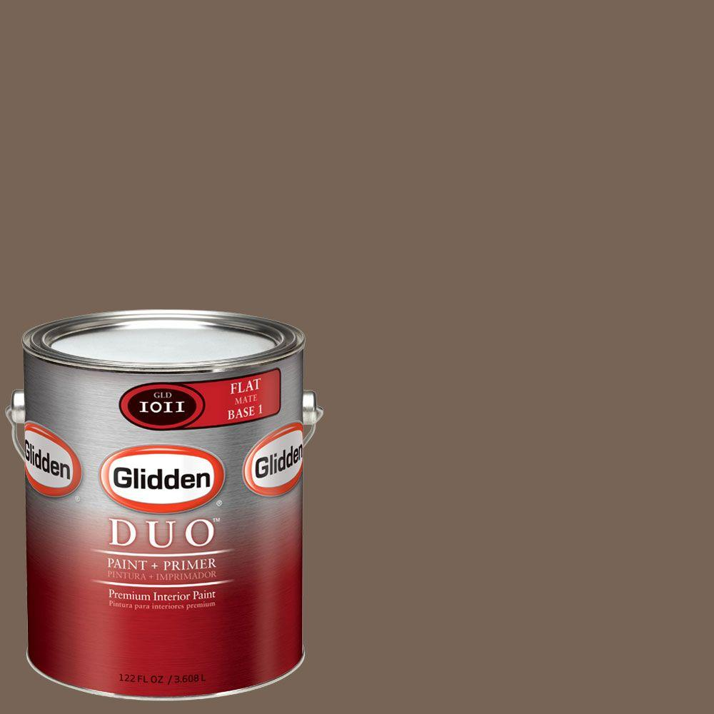 Glidden DUO Martha Stewart Living 1-gal. #MSL221-01F Chocolate Truffle Flat Interior Paint with Primer - DISCONTINUED
