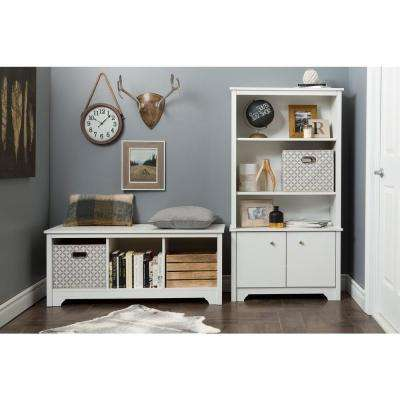 Vito Pure White Storage  Bench