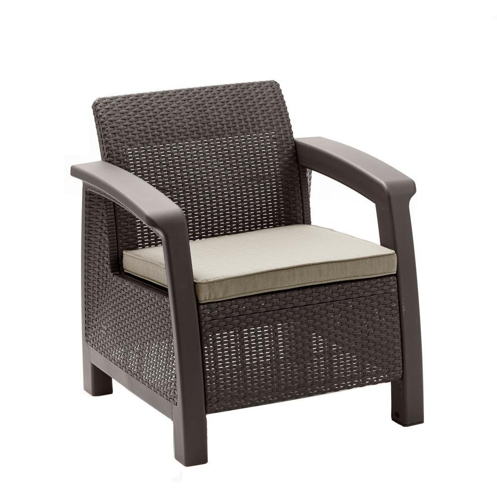 Keter Bahamas Brown All Weather Plastic Outdoor Patio
