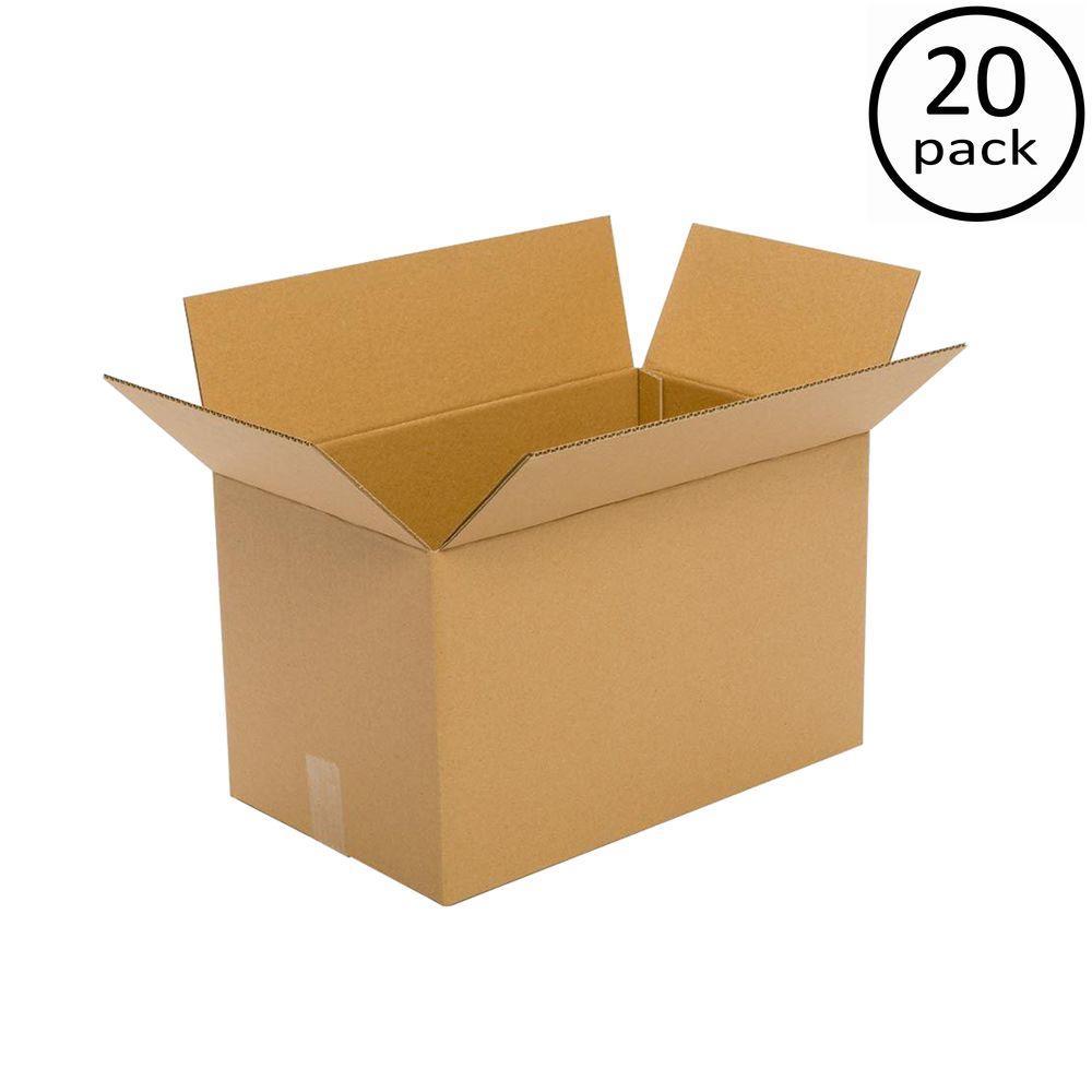 Plain Brown Box 20 in. x 16 in. x 14 in. 20-Box Bundle