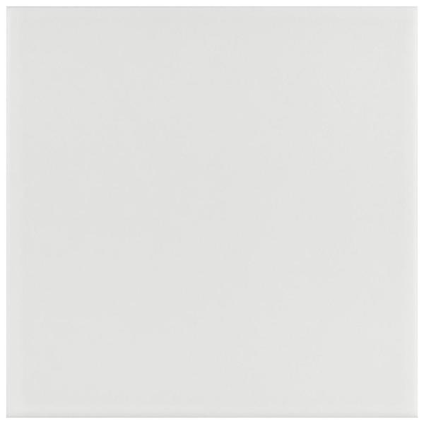 Revival White 7-3/4 in. x 7-3/4 in. Ceramic Floor and Wall Tile