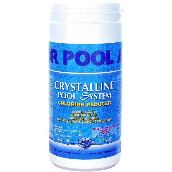 3 lbs. Pool and Spa Chemical Chlorine Reducer, Water Clarifier, Algaecide and PH Stabilizer