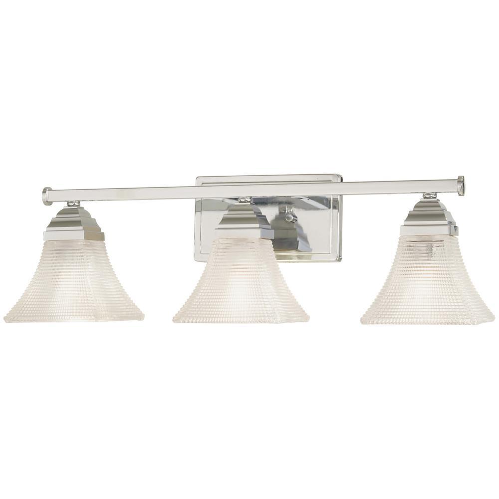 Conspire 3-Light Chrome Bath Light