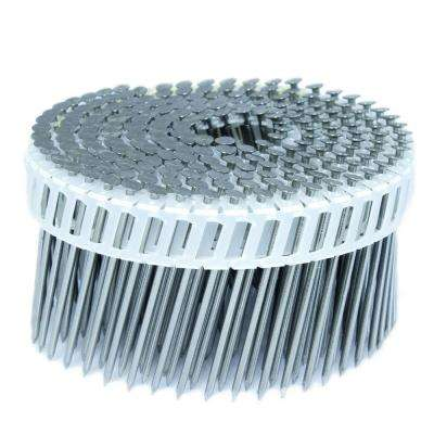2.5 in. x 0.092 in. 15-Degree Smooth Stainless Plastic Sheet Coil Siding Nail 3,200 per Box
