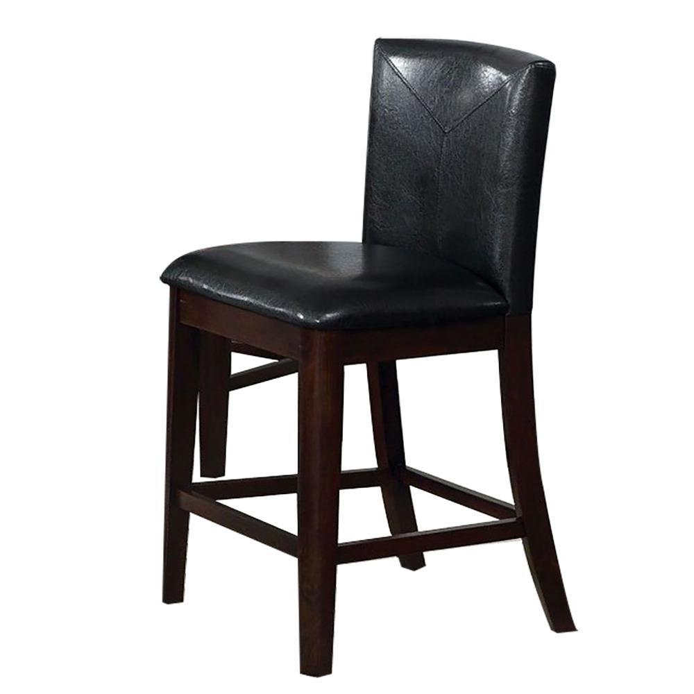Atenna II Counter Ht. Chair in Dark Walnut finish