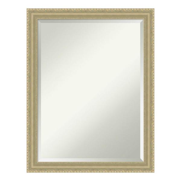 Amanti Art Champagne Teardrop Wood 21 In X 27 In Traditional Bathroom Vanity Mirror Dsw4016461 The Home Depot