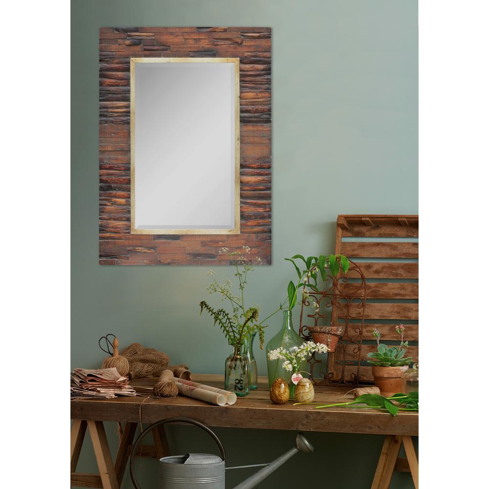 42 in. x 30 in. Gallante Framed Wall Mirror