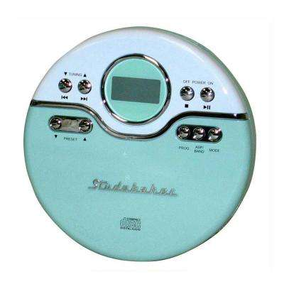 Joggable Personal CD Player with PLL Radio in Mint Green/White