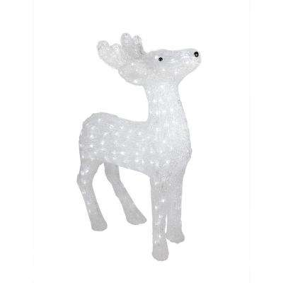 29 in. Christmas Lighted Commercial Grade Acrylic Reindeer Display Decoration